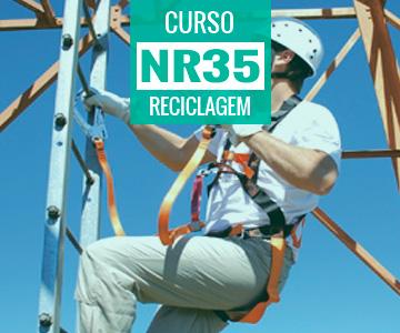 Curso de Reciclagem da NR 35 - Supervisor de Trabalho em Altura